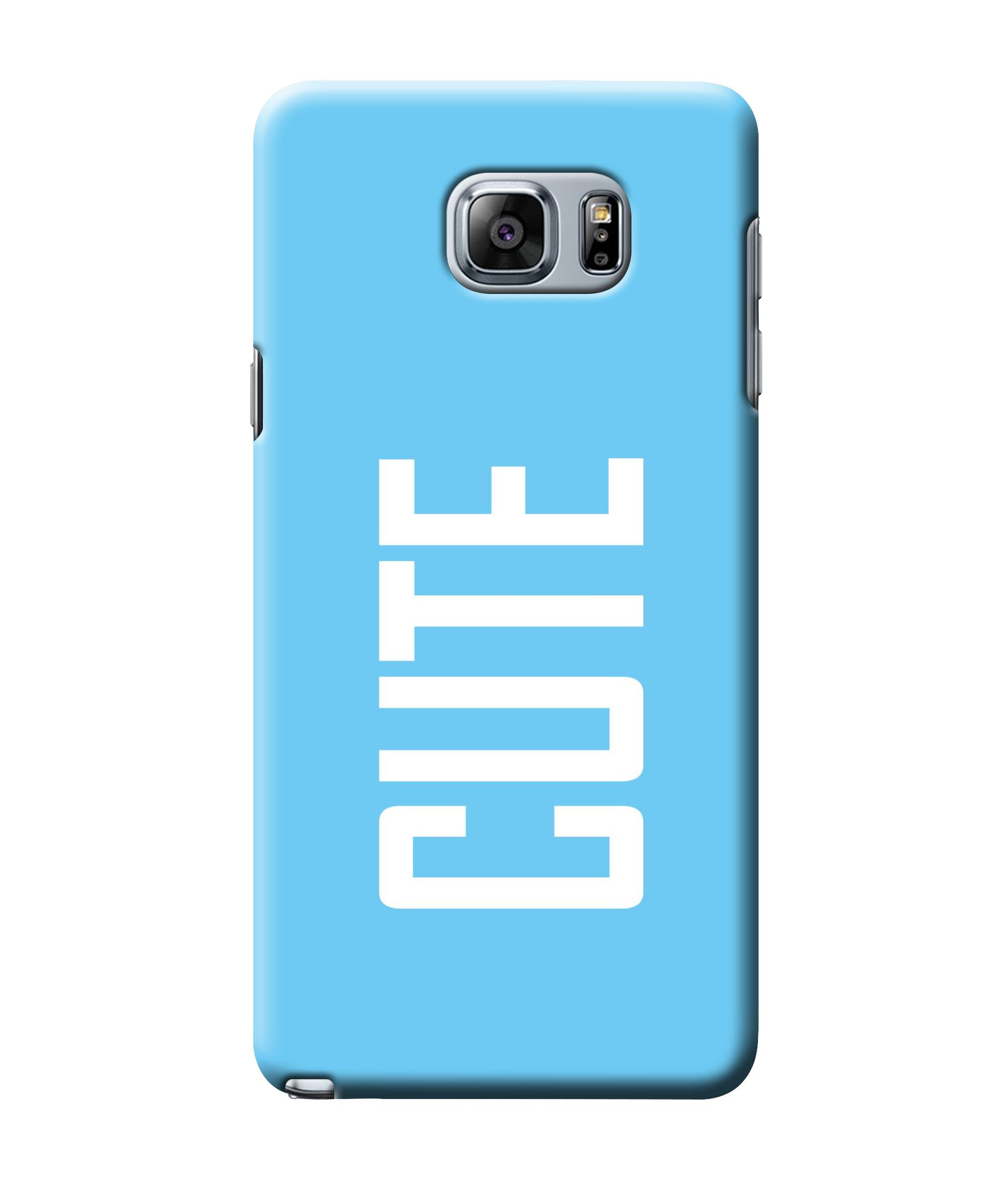 caseophile2 Samsung Galaxy Note 5 Cute Blue Mobile Case