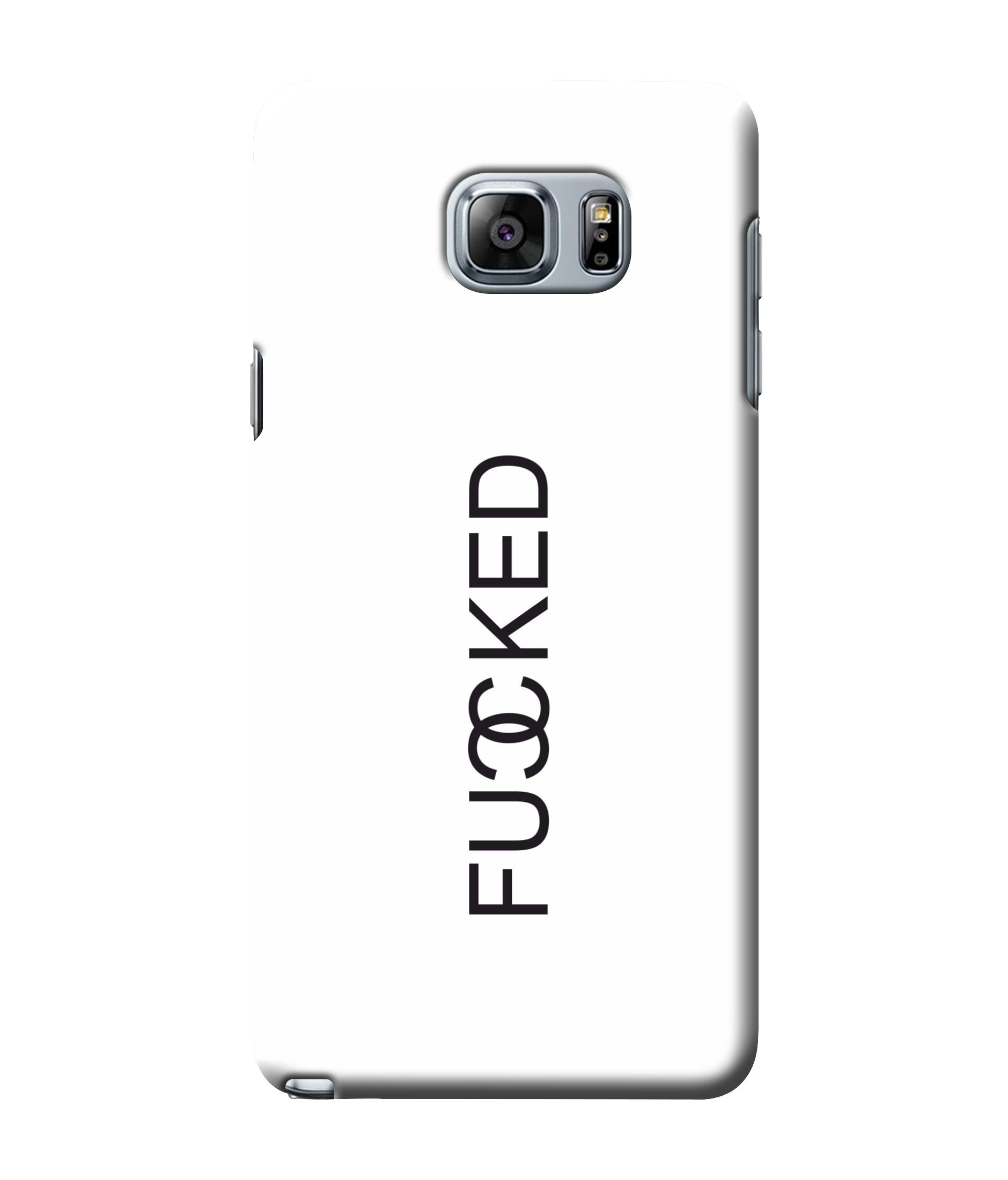 caseophile2 Samsung Galaxy Note 5 Fucked White Mobile Case