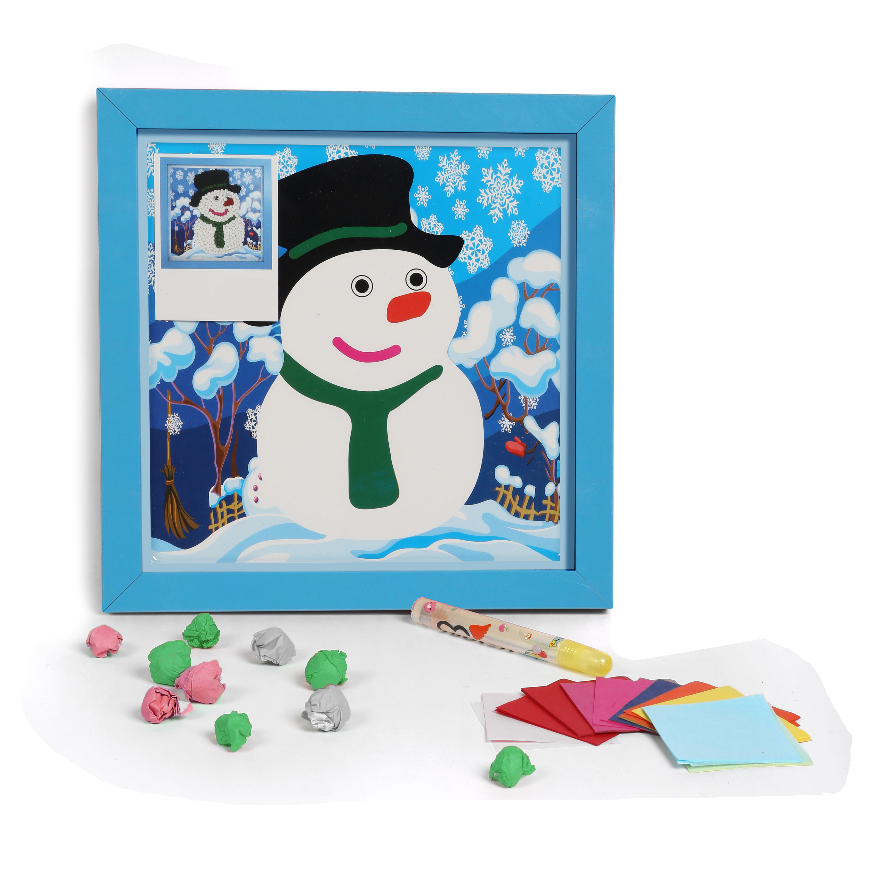 wwwbabyoodlescom Diy 3d Paper Craft Wall Hanging Snowman