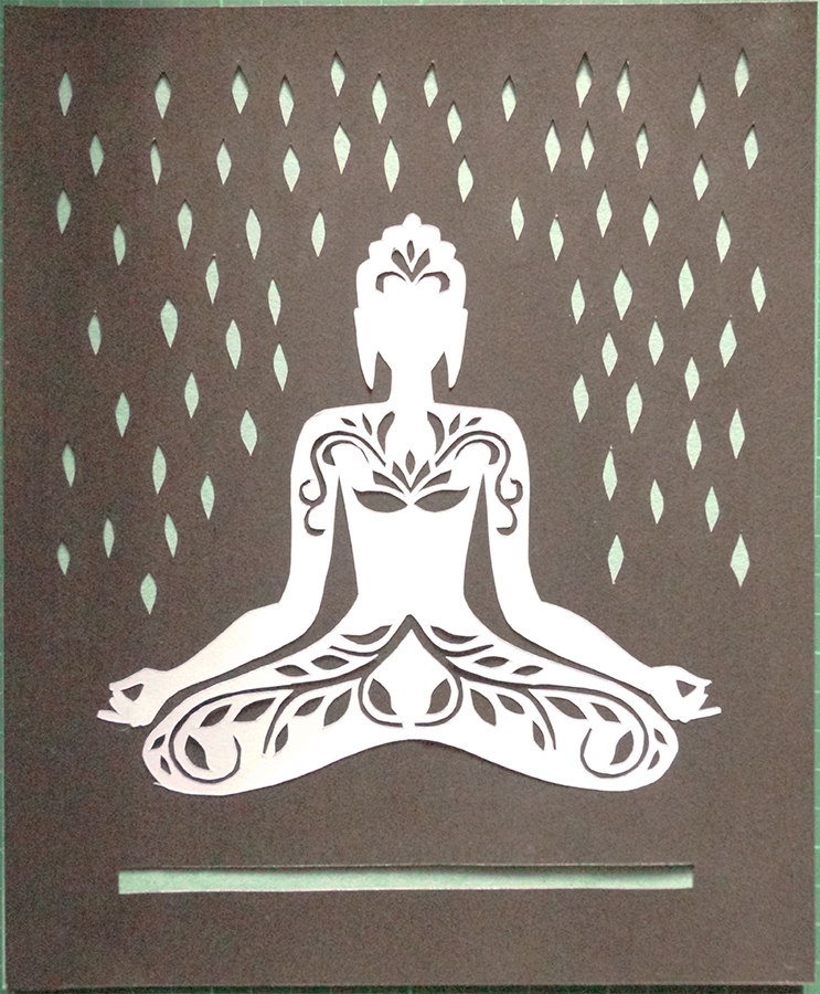 plushdecor Paper Cut Art Buddha 004
