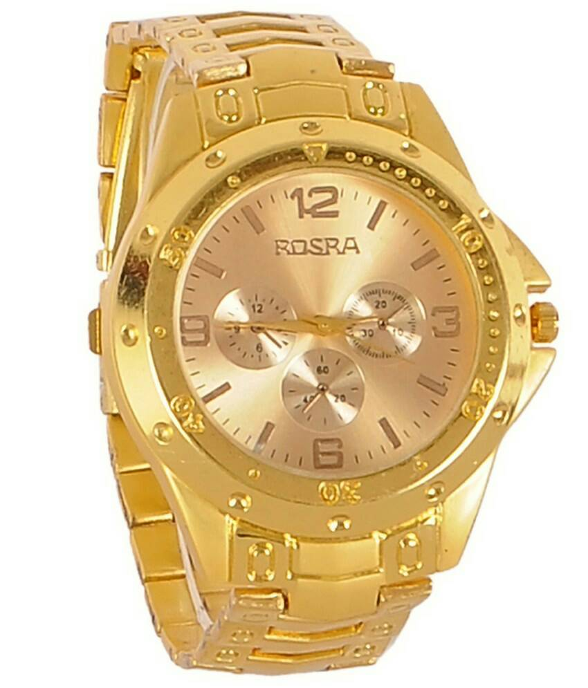 Buy rosra gold analogmovement watches at 88 off in india kraftly may 2018 for Rosra watches
