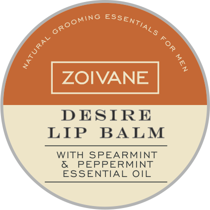 zoivanemen Zoivane Men Natural Lip Balm | Desire Lip Balm For Uplifting The Mood. Perfect For Couples, - Spearmint And Peppermint Essential Oil.10g