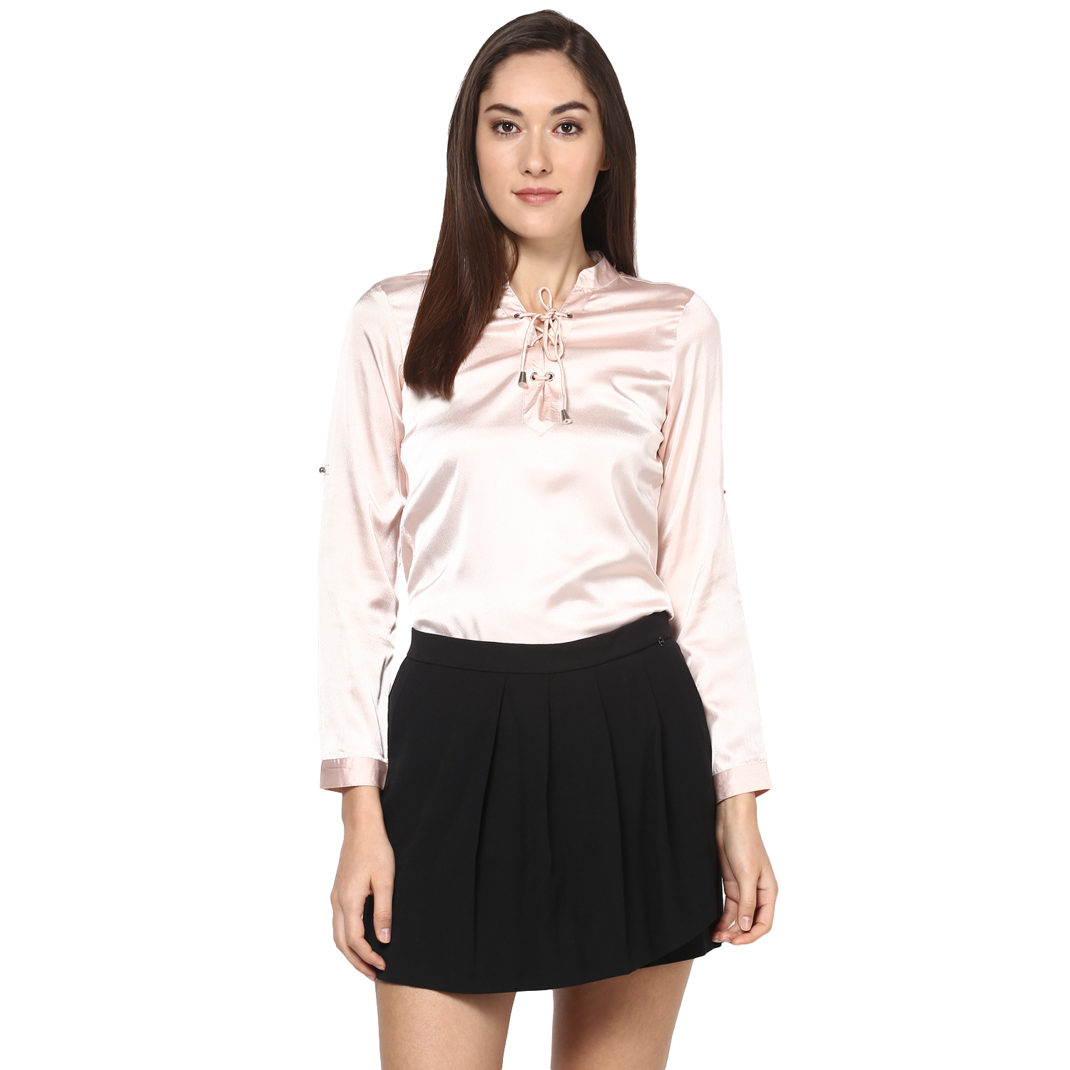 Zoys Casual Full Sleeve Solid Women's Pink Top