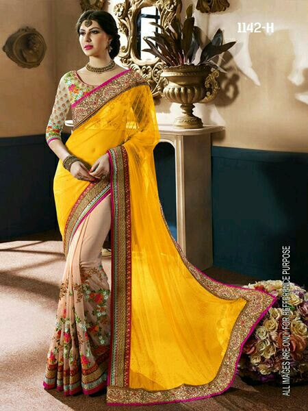 libatrendyin2 Dharam Good Quality Georgette Saree