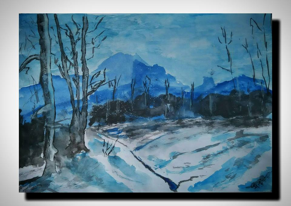paintings500 Winter Night