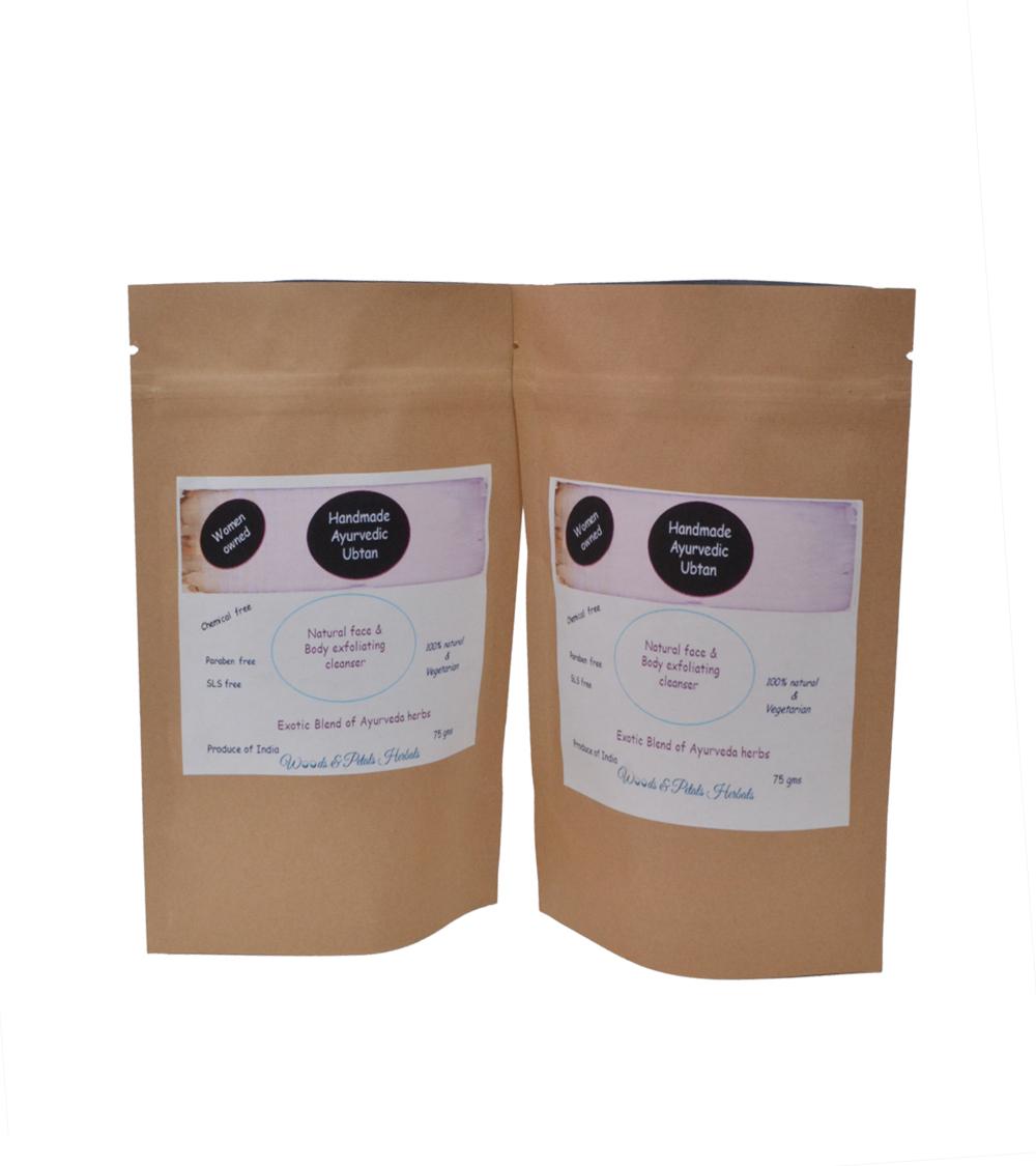 woodsandpetals Ayurvedic Ubtan /kanti Lepa ( Bath Powder) Pack Of 2