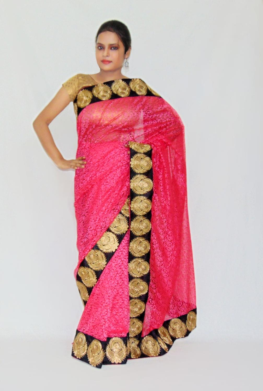 0be395ce4f Viukart Pink Designer Party wear Brasso saree