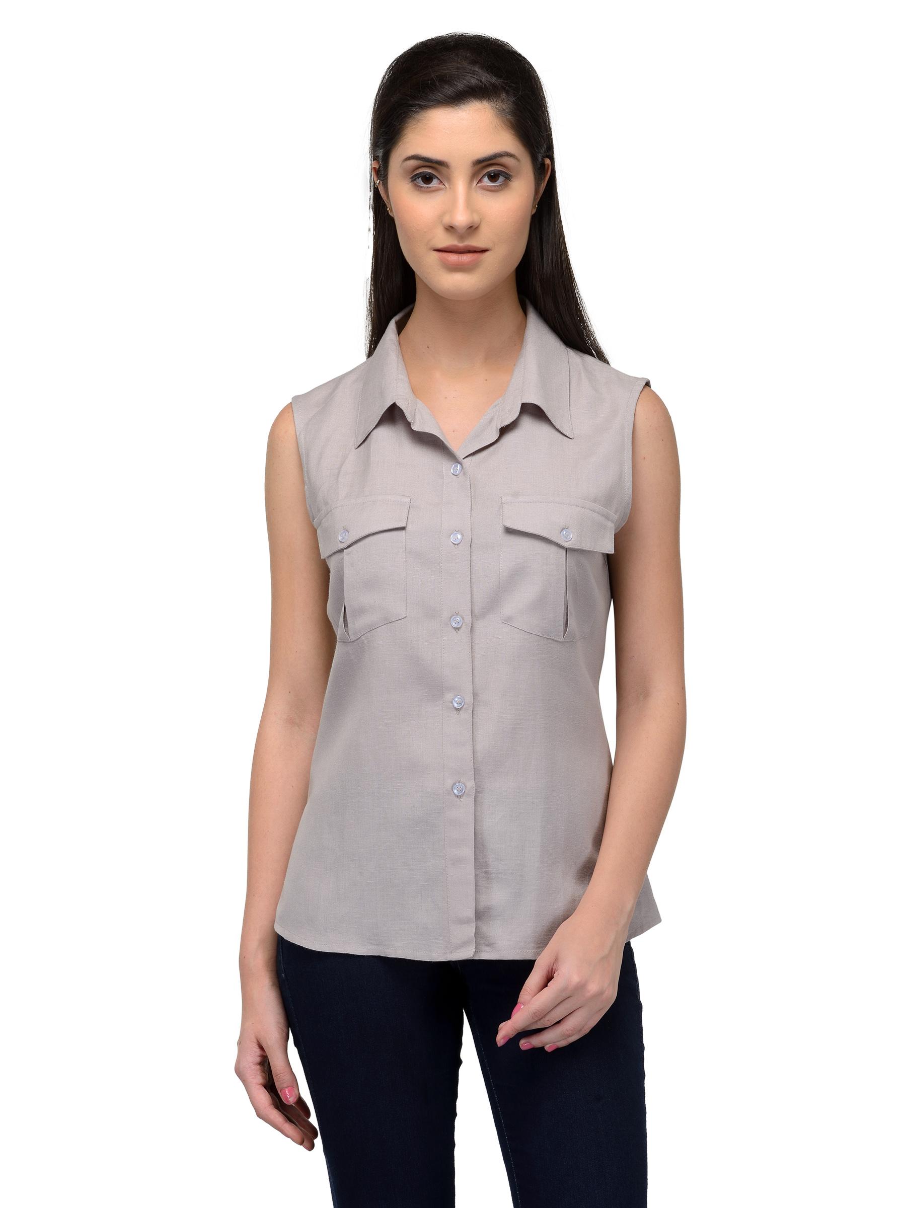 Patrorna Women S Viscose Shirt (Grey F06Vf0000A024Gs) d2a9b945a