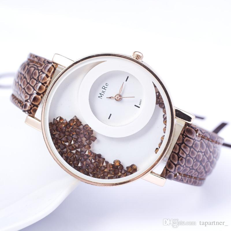 Buy Fancy Women Diamond Watch -Brown at 55% off Online India at ...