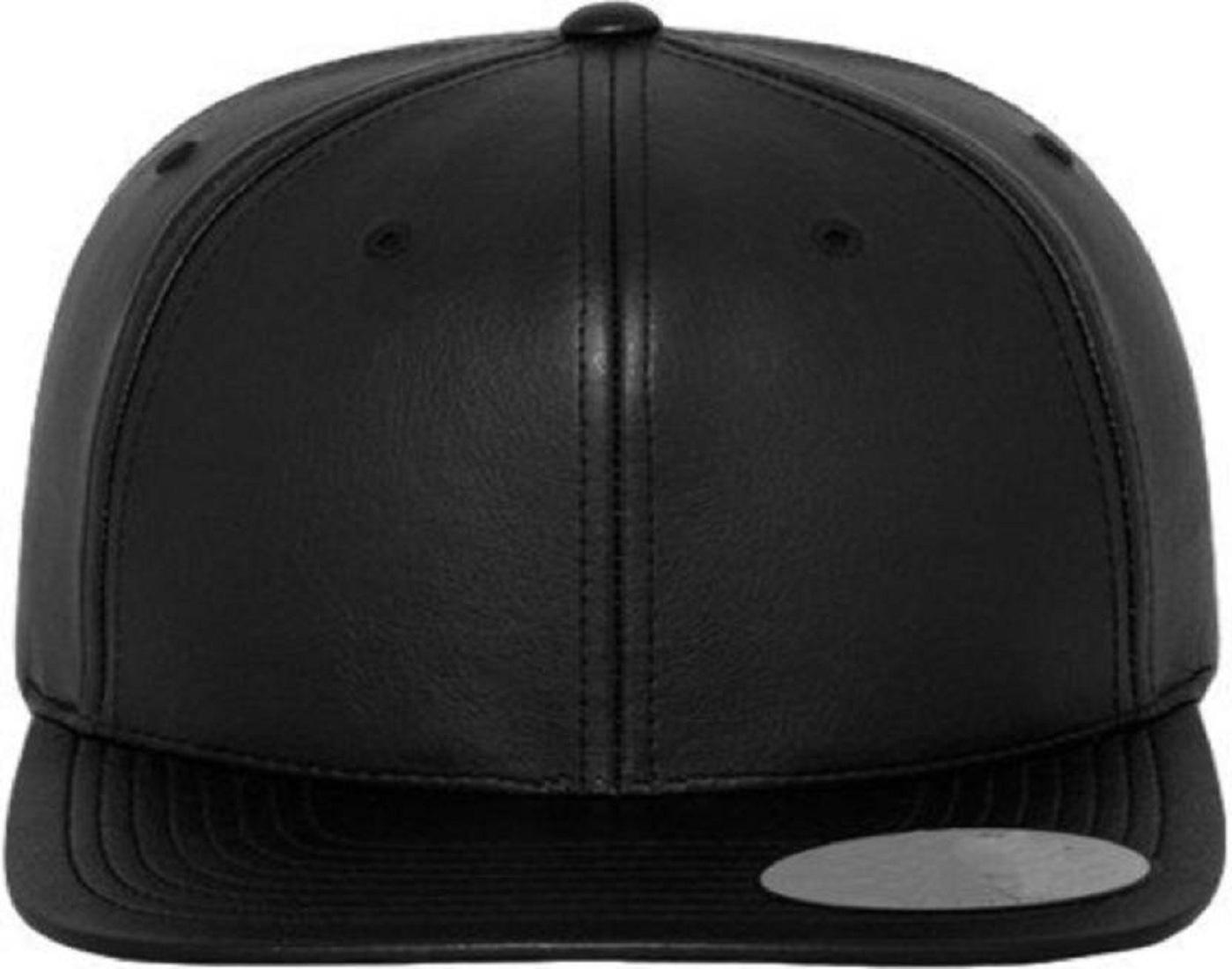 9ea9f22b2 FAS Solid Black Faux Leather, Snapback, baseball, Hip Hop, Trucker, Hat, Cap