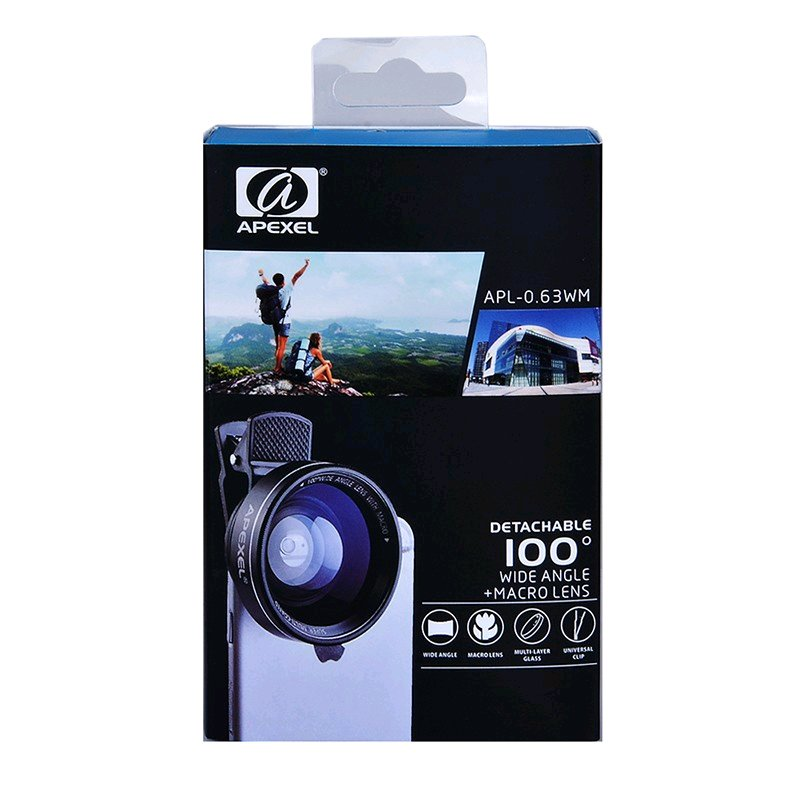 apexellens Apexel 12.5x Macro  0.63x Wide Angle Phone Lens