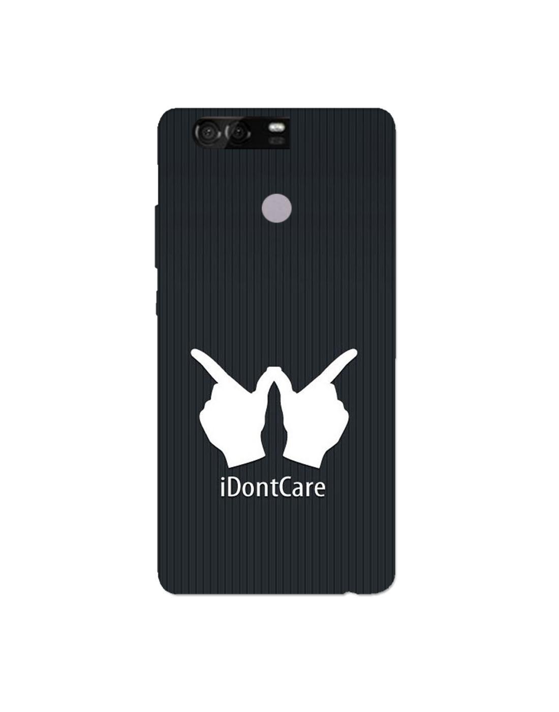 Buy Huawei Honer 8 Mobile Cover Hard Case Printed Back Cover I Dont Care Theme Designer