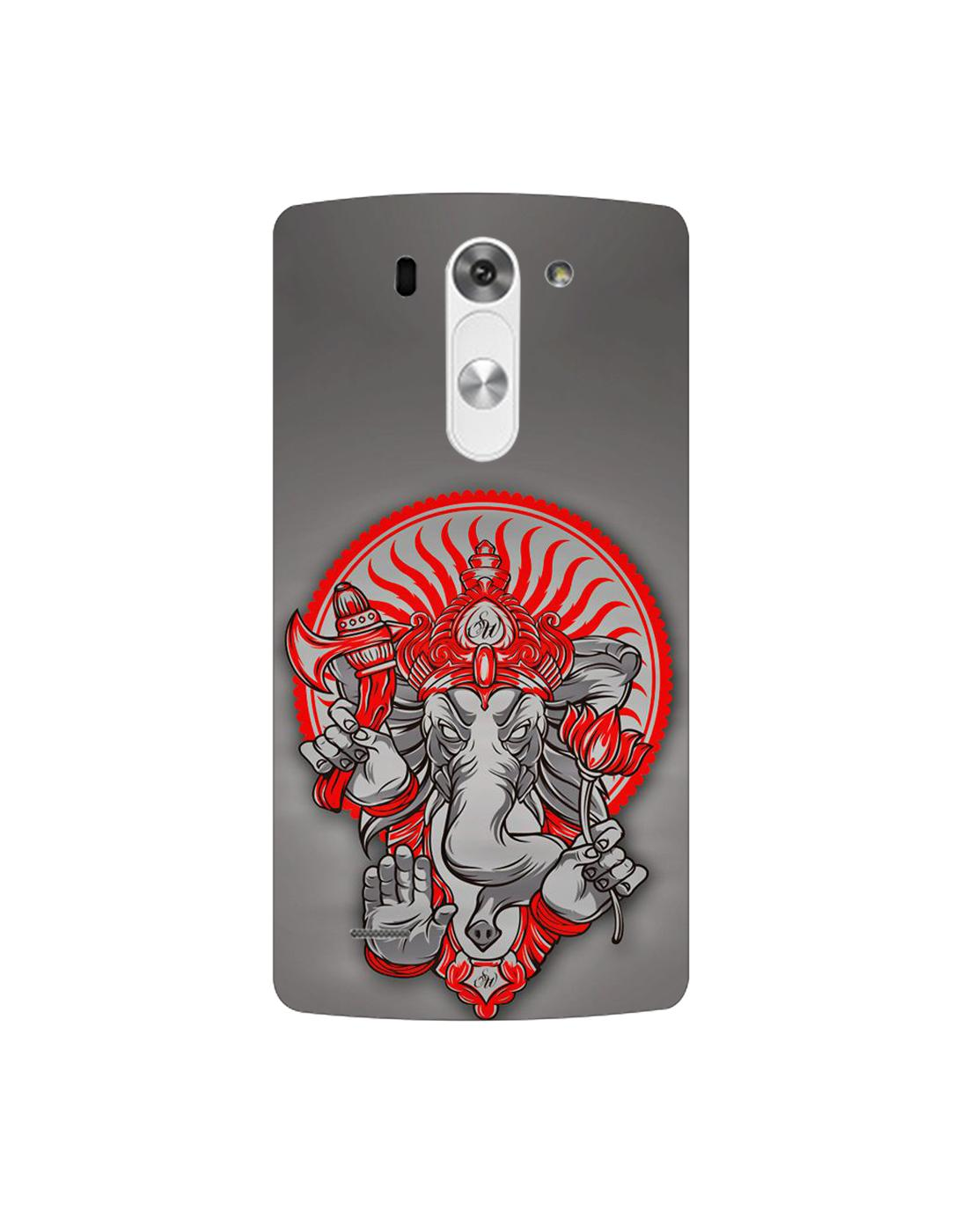 Buy Lgg3 Stylus Mobile Cover Hard Case Printed Back Cover Angry Ganpati Bappa Theme Designer