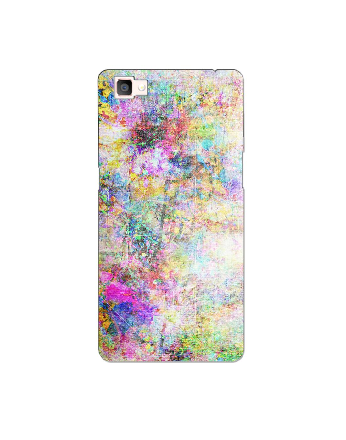 Buy Oppo F1s Mobile Cover Hard Case Printed Back Cover Colourfull Abstract Theme Designer