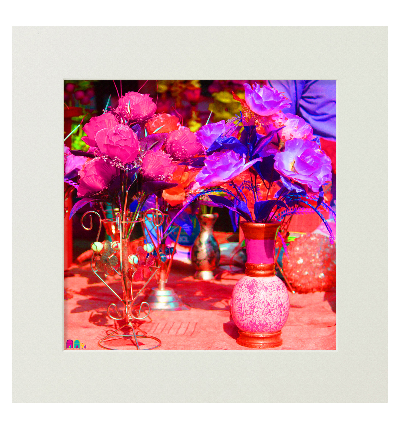 Buy flower pot mounted digital art print at 6 off online for Buy digital art online