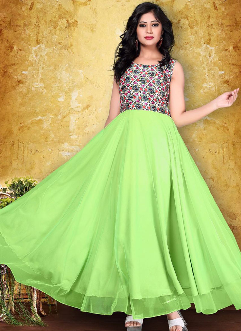 Buy ask me abount green gown jk17 at 70 off online india for Floor touch gown
