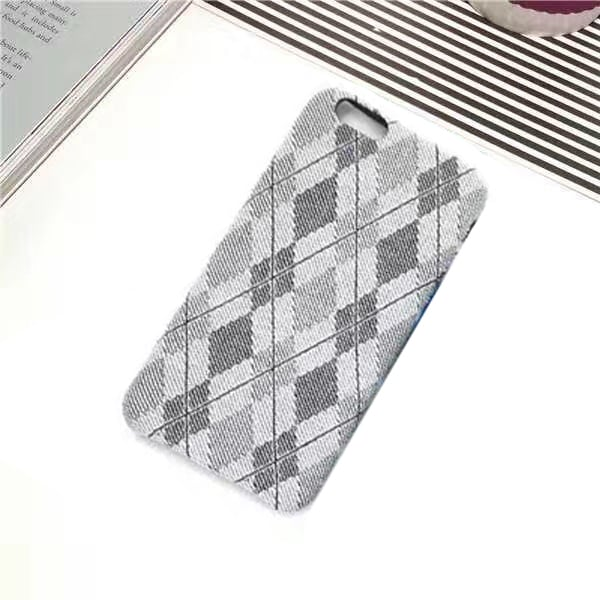 ff97ed187a8 JMM Grey Patterned Fabric Soft Designer Cover for iPhone 6 J-IP6-F-PATT-GRY