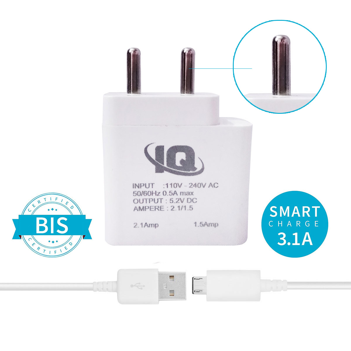 sublicart2 Redmi 4 Prime Supported Wall Charger Made In India,travel Charger ,mobile Charger,dual Port Usb Plug Wall Charger Adapter With 1 Meter Micro Usb Cabl