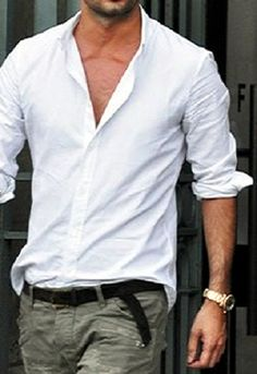 Buy mens white plain shirt pack of 1 at lowest price for Nice mens button up shirts