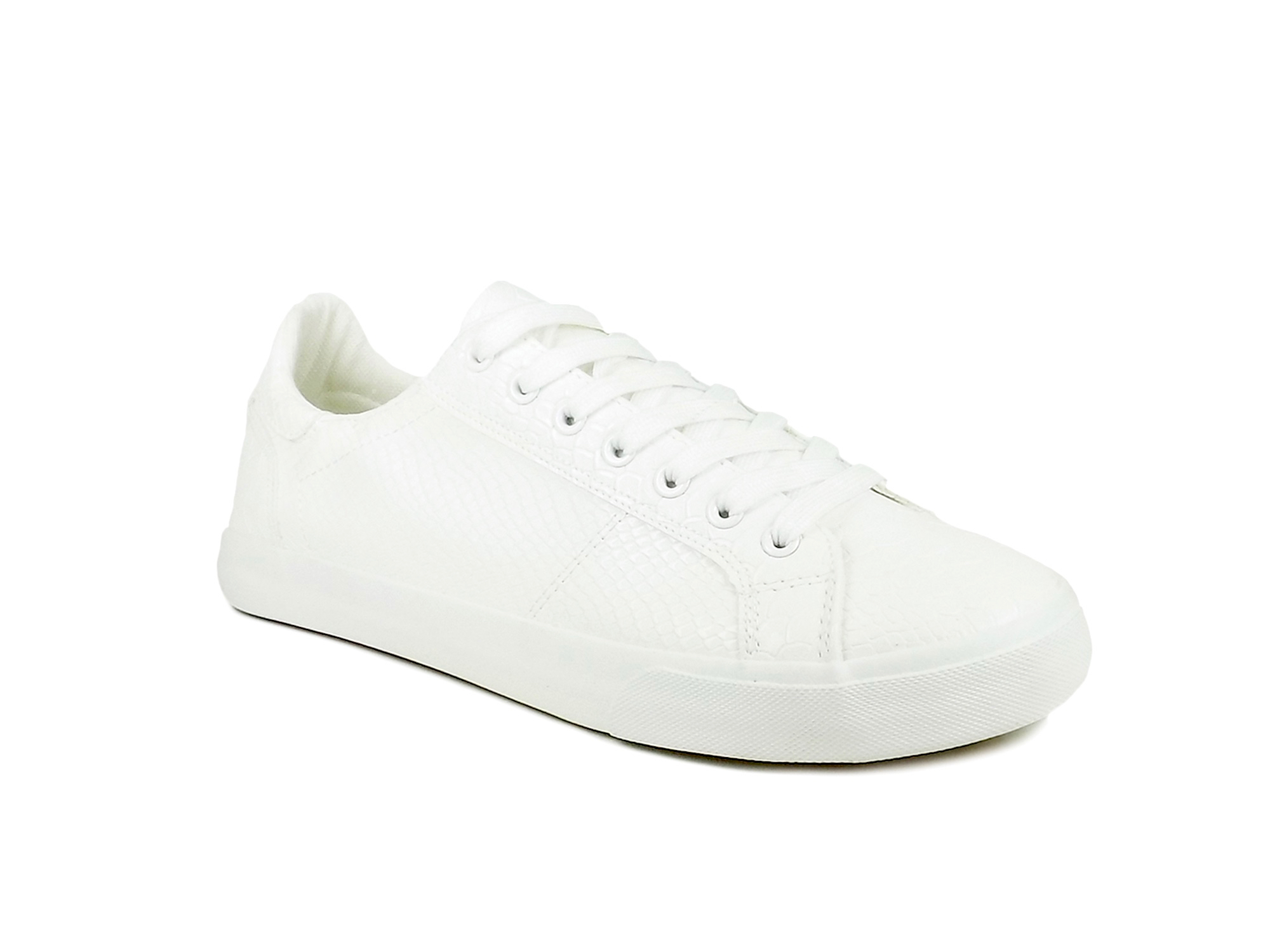 vantagesales Ripley Neo Series White Textured Leatherette Casual Shoes