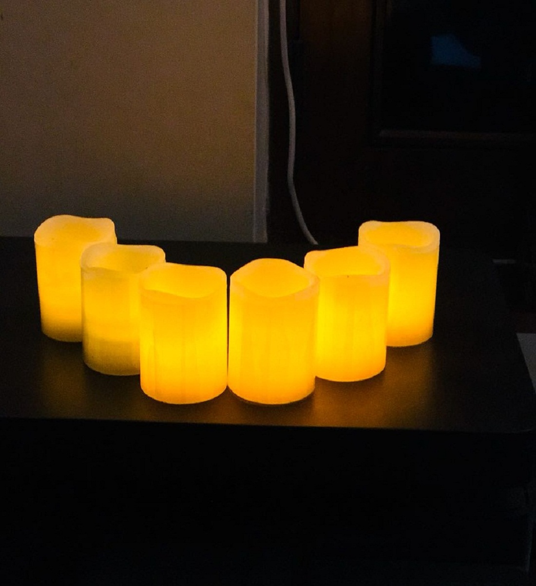 rianz2 Pack Of 12 Led Candle Smoke Free Yellow Led Color Battery Operated For Diwali Home Dcor, Wedding Anniversary, Birthday, Valentine Day Decoration