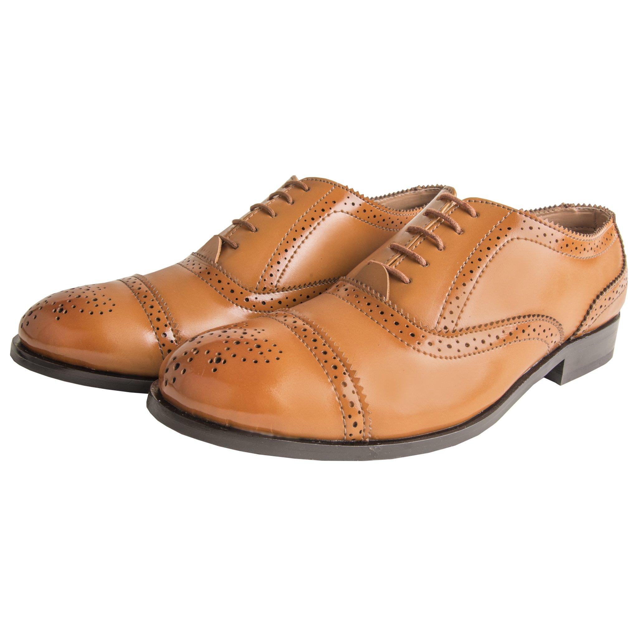 elitous Full Brogues Formal Shoes (tan)