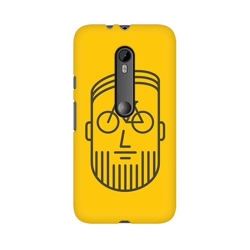 tribalowl Moto X Play Bikeface Tribal Owl Printed Mobile Case