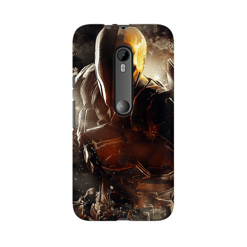 tribalowl Moto X Play Deathstroke Tribal Owl Printed Mobile Case