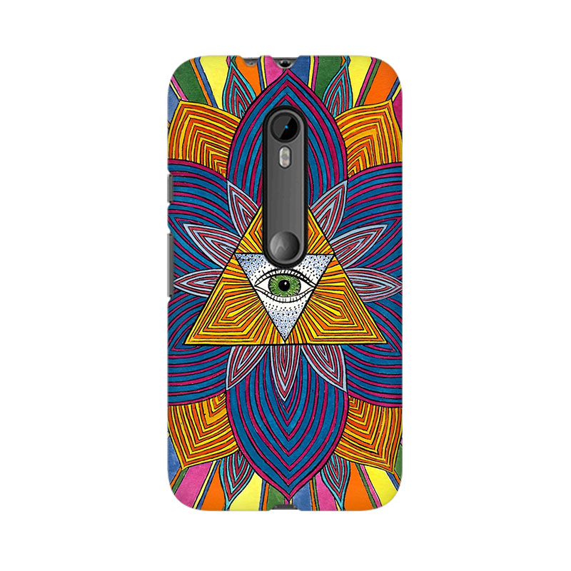 tribalowl Moto X Play The Eye Tribal Owl Printed Mobile Case