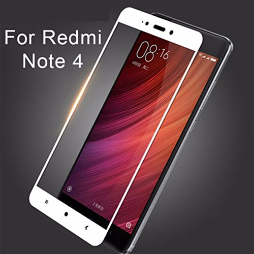 Dirar3dcurved Edge-to-edge Full Screen Tempered Glass For Xiaomi Redmi Note 4 (white)