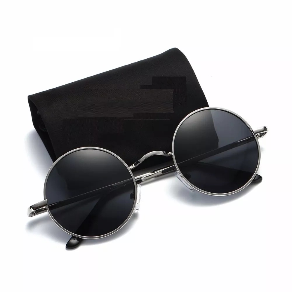 a910f021eaf Skygge Original Unisex Round Sunglasses UV 400 Protected Polycarbonate  Black Colour Sunglasses With Silver Frame