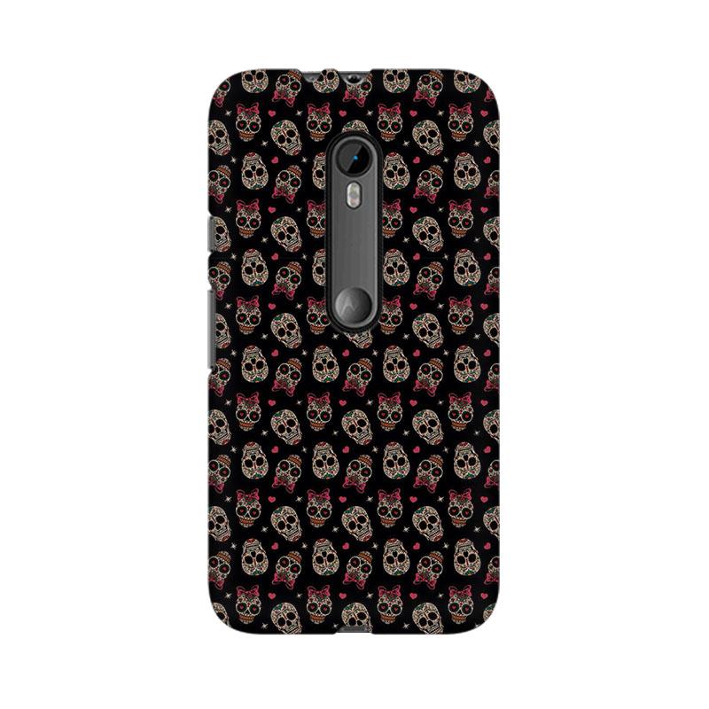 makwanaweb Moto X Play Laughing Skulls Mobile Back Case Cover