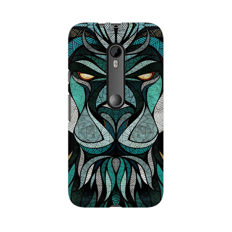 makwanaweb Moto X Play Lion Mighty Mobile Back Case Cover