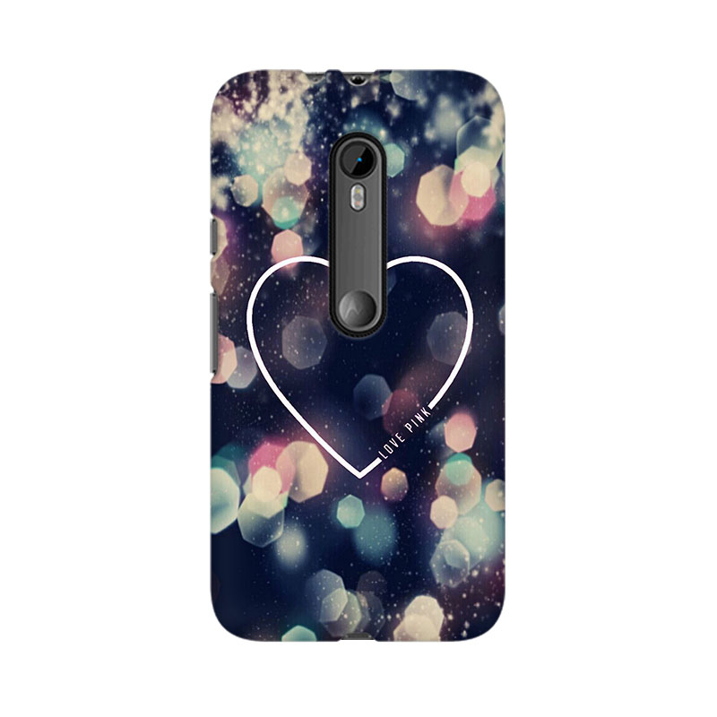 makwanaweb Moto X Play Love Pink Mobile Back Case Cover