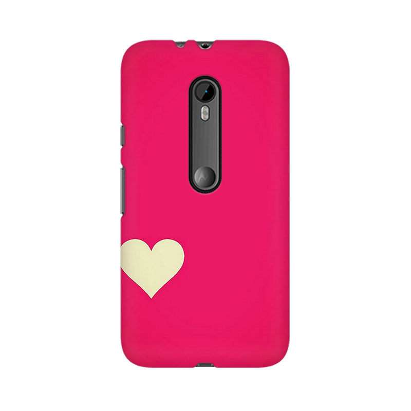 makwanaweb Moto X Play Pink Heart Mobile Back Case Cover