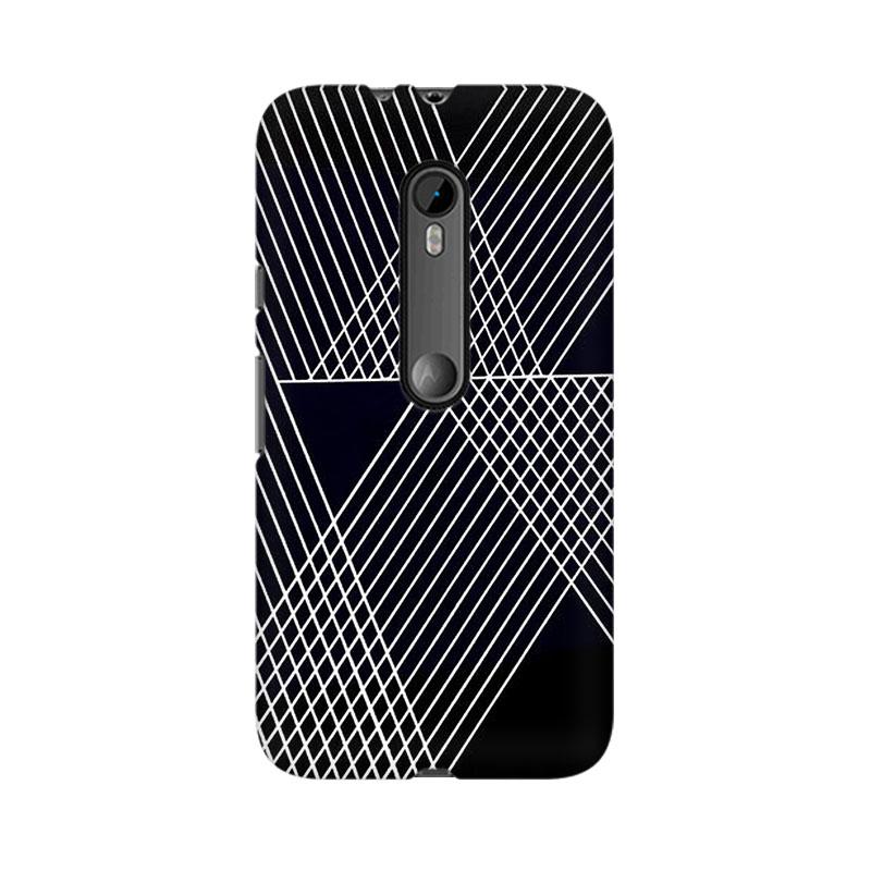 makwanaweb Moto X Play Reflecting Lines Mobile Back Case Cover
