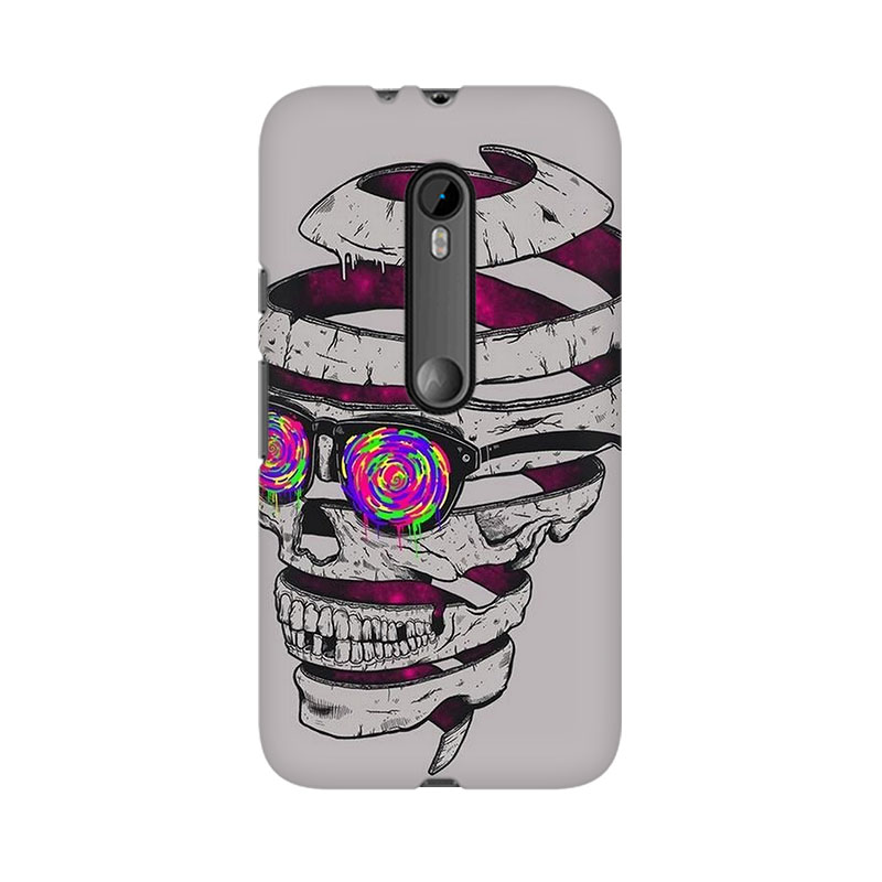 makwanaweb Moto X Play Skull Maker Mobile Back Case Cover