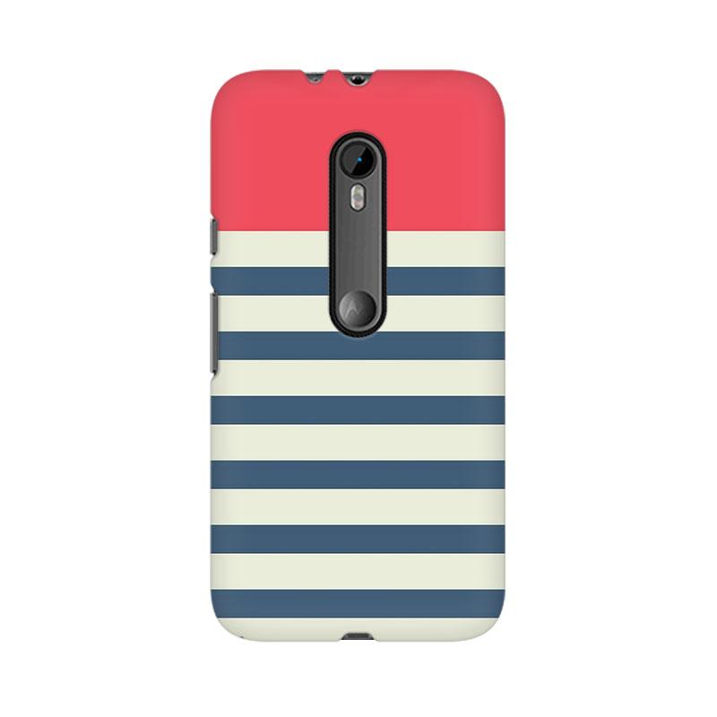 makwanaweb Moto X Play Stripes Pink Mobile Back Case Cover