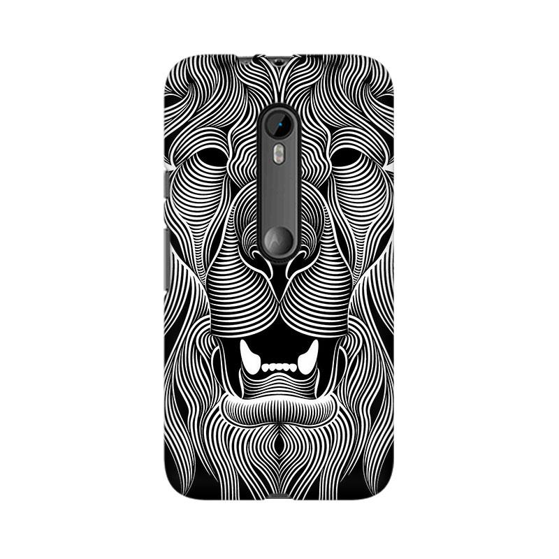 makwanaweb Moto X Play Wavy Lion Mobile Back Case Cover